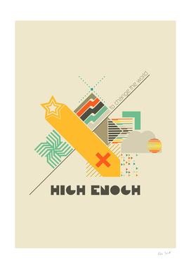 High enough retro poster