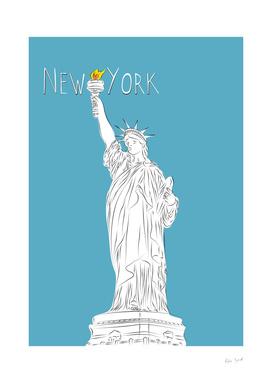 New York Line Art
