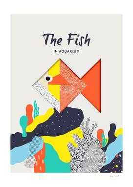 The fish in Aquarium Origami art