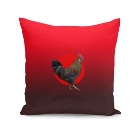 Polygonal Rooster leghorn cock