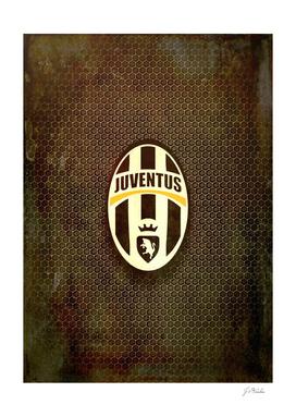 FC Juventus metal background