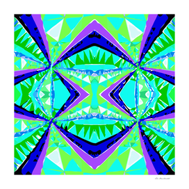 geometric triangle symmetry art pattern abstract in green