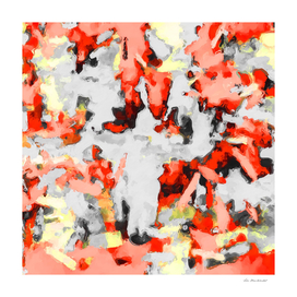 splash painting texture abstract in red yellow black