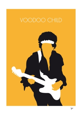 No014 MY Jimi Hendrix Minimal Music poster-curioos
