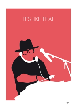 No022 MY RUN DMC Minimal Music poster-curioos