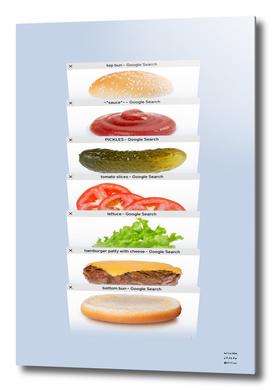 Safari Tabs Cheeseburger - Cool Gray