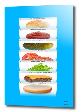 Safari Tabs Cheeseburger - Sky Blue