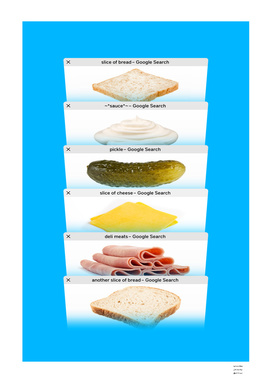 Safari Tabs Sandwich - Sky Blue