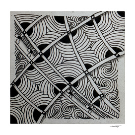Zentangle tile no. 2
