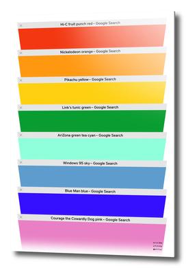 Safari Tabs '90s Rainbow