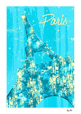 Graphic Style PARIS Eiffel Tower | cyan