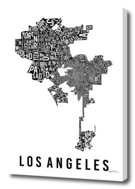 LOS ANGELES TYPOGRAPHIC MAP
