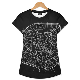 PARIS MINIMALIST MAP BLACK