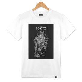 TOKYO MINIMALIST MAP BLACK