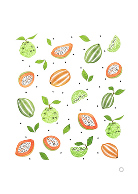 Papaya & Custard Apple