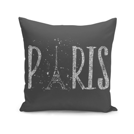 PARIS Typography | grey | silver splashes