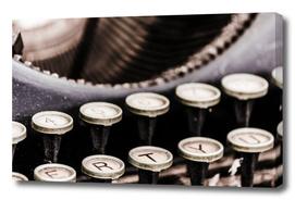 Old typewriter - close-up view