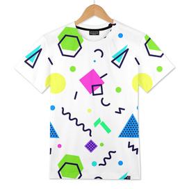 Mempfis trendy pattern on white background. 80's style