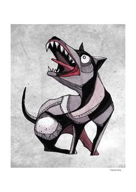 Crazy dog illustration