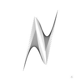 Minimal Typography Letter N