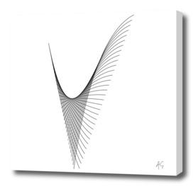 Minimal Typography Letter V