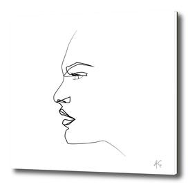One Line Woman Profile