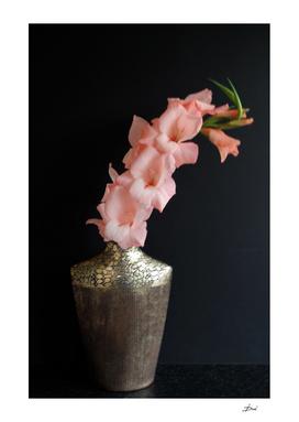 Gladiola In a Gold Vase
