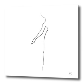 Minimal One Line Woman Figure