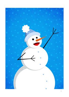 Cute Happy Singing Snowman
