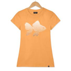 Ombré orange and white swirls doodles
