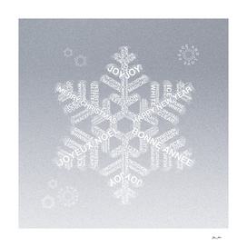 Snowflake Greetings - Ombre Silver Grey