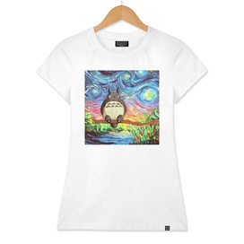 Painting Totoro Stary night Vincent Van Gogh
