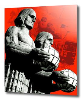 Stone men of Helsinki