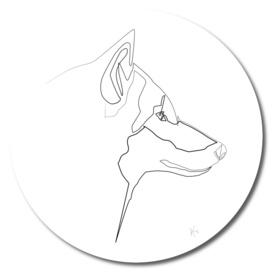 One Line Wolf