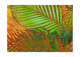 TROPICAL LEAVES POP-ART no5