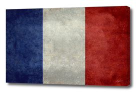 Flag of France - vintage style