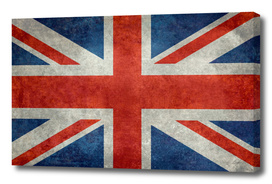 Flag of UK, Union Jack in Vintage retro style