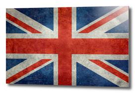 Flag of UK, Union Jack in Vintage retro style