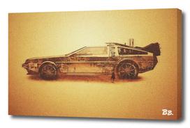 Lost in the Wild Wild West -  Delorean Doubleexposure Art