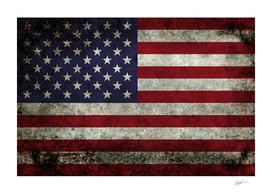 Flag of the United States in Super Grunge