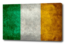 Flag of Ireland in vintage retro