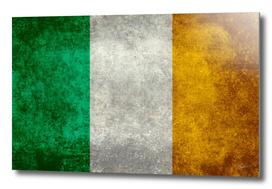 Flag of Ireland in vintage retro