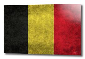 Flag of Belgium in Vintage retro