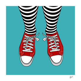 BANDY'S RED SHOES