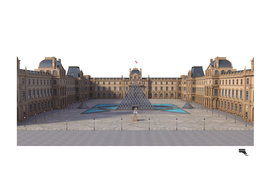 Louvre Museum Ilustration