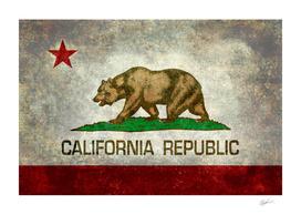 California state Vintage retro style