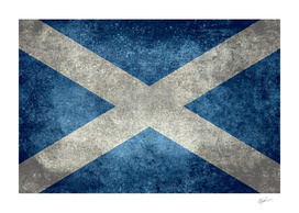 Flag of Scotland Vintage retro style