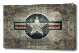 Airforce star roundel in Vintage retro style