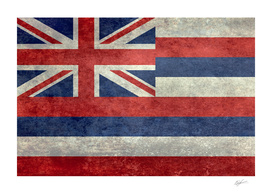 Hawaii state flag Vintage retro style