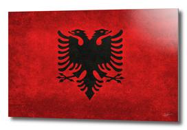 Flag of Albania Vintage retro style